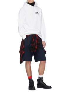 Sacai x The New York Times 'Truth' slogan print hoodie