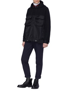 Sacai Chest pocket nylon panel hoodie