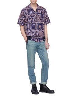 Sacai Belted contrast pocket jeans