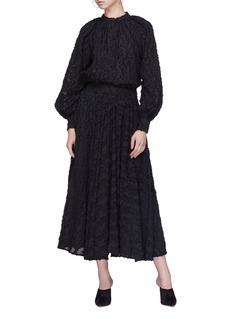 Co Clipped jacquard skirt