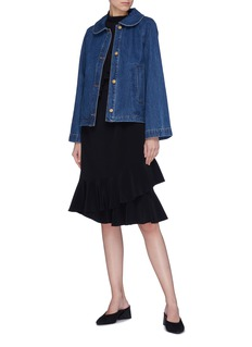Co Peter Pan collar denim jacket