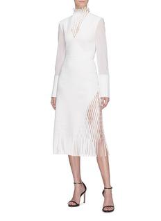 Dion Lee 'Triangle' lasercut fringe midi skirt