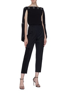 Dion Lee Button spiral sleeve crepe top