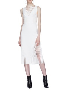 Dion Lee 'Mirror' lasercut fringe midi dress