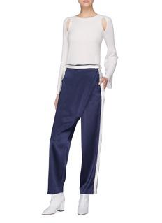Dion Lee Stripe outseam silk satin wrap pants