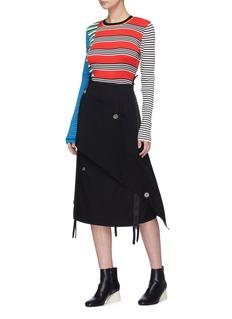 ENFÖLD Colourblock stripe rib knit sweater