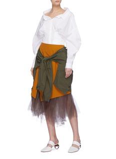 ENFÖLD Tulle underlay sleeve tie shirt panel skirt