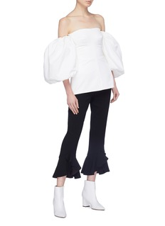 Ellery 'Countless' balloon sleeve corset top