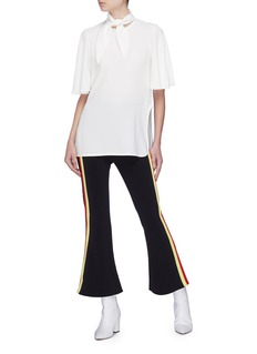 Ellery 'Rivera' stripe outseam flared pants