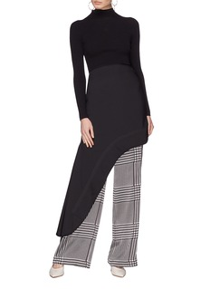 Ellery 'Minimalism' asymmetric drape suiting skirt