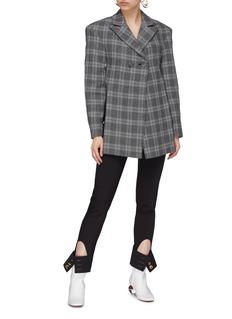 Ellery 'Incognito' cutout back check plaid blazer