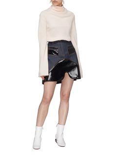 Ellery 'Vontz' coated panel denim skirt