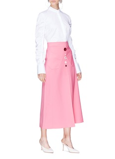 Ellery 'Aggie' mixed button skirt