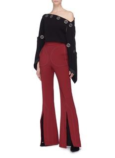 Ellery 'Aalto' contrast topstitching split flared pants