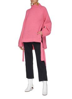 Ellery 'Wallerian' tie side split rib knit oversized sweater