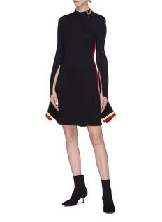 Ellery 'Dada' split sleeve stripe outseam knit dress