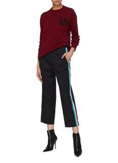 ADAPTATION 'LA' slogan intarsia cashmere sweater
