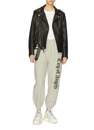 Figure View - Click To Enlarge - ADAPTATION - 'City of Angels' slogan print sweatpants