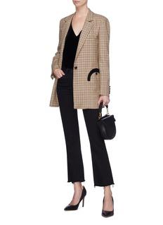 Blazé Milano 'George Timeless' check plaid single breasted wool blazer