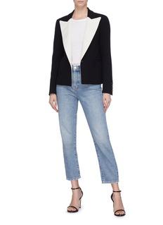 Blazé Milano 'Resolute Spencer' contrast peaked lapel blazer