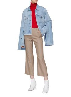 rokh Layered split sleeve denim jacket