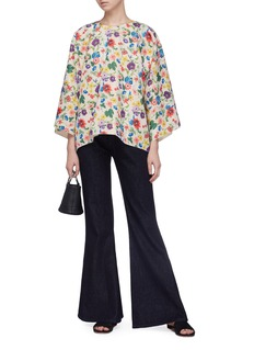 Ms MIN Floral print jacquard top