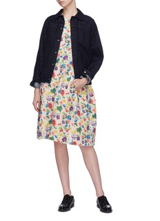 Ms MIN Floral print jacquard dress