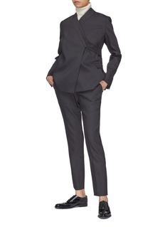 Ms MIN Sash tie back wrap blazer