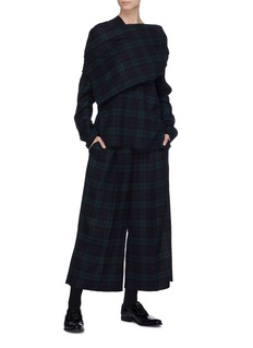 Ms MIN Tartan plaid pleated culottes