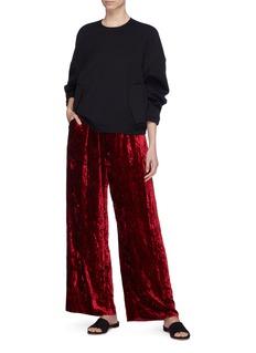 Ms MIN Crushed velvet wide leg pants