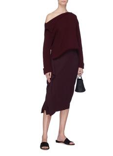 Ms MIN Drape outseam wool skirt