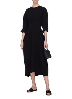 Ms MIN Wool panelled dress