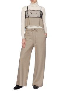 Ms MIN Wool drawstring pants