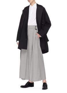 The Keiji Convertible detachable lapel panel belted coat