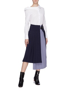 TOGA ARCHIVES Buckled pleated layered wrap skirt