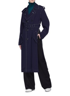 TOGA ARCHIVES Belted side zip contrast topstiching trench coat