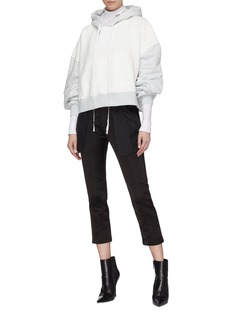 Ben Taverniti Unravel Project  Reverse cropped silk pants