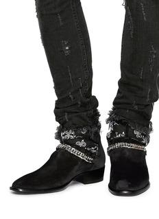 Amiri Bandana buckle strap suede boots
