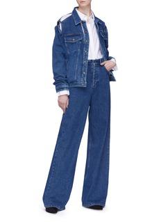 Y/Project Detachable shirt cutout unisex denim jacket