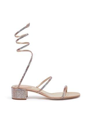 36e654f977ec4c René Caovilla  Cleo  strass coil anklet satin sandals