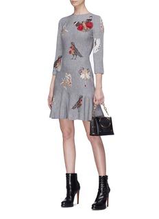 Alexander McQueen 'Gothic Fairytale' jacquard knit mini peplum dress