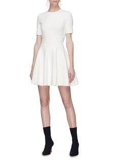 Alexander McQueen Wavy jacquard knit flared skirt