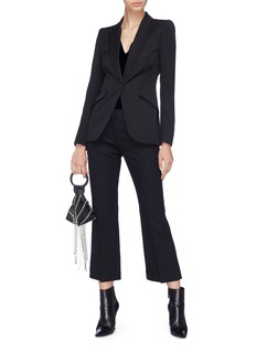 Alexander McQueen Flared wool-blend suiting pants