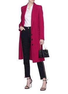 Alexander McQueen Peaked lapel virgin wool- cashmere melton coat