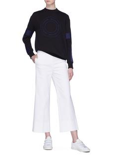 VICTORIA, VICTORIA BECKHAM Stripe sleeve roundel logo sweatshirt