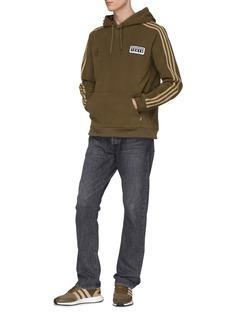 adidas x NEIGHBORHOOD Logo print 3-Stripes sleeve fleece hoodie