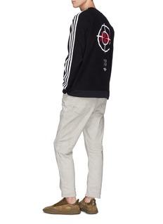 adidas x NEIGHBORHOOD Logo print 3-Stripes sleeve fleece sweatshirt