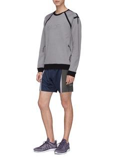 Isaora 'Circuit' reflective logo print contrast trim performance sweatshirt