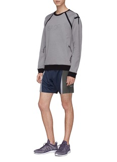 Isaora 'Shadow' colourblock running shorts