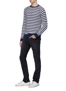 DENHAM Raglan sleeve stripe sweatshirt